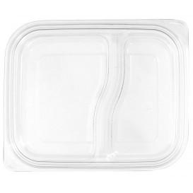Tapa Plana Plástico para Envase PET 18x15cm (75 Uds)