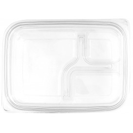 Tapa Plana Plástico para Envase PET 22x16cm (75 Uds)