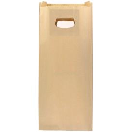 Bolsa Papel Kraft Asas Troqueladas 18+6x32cm (50 Uds)