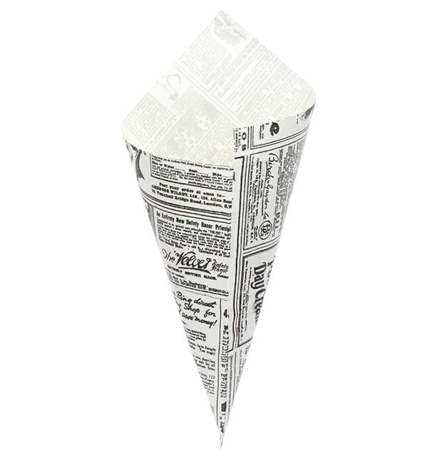 Cono de Papel Antigrasa Times 295mm 250g (250 Uds)
