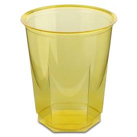 Vaso Plastico Hexagonal PS Cristal Amarillo 250ml (10 Uds)