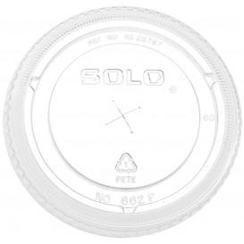 Tapa Plana con Cruz PET Cristal Ø8,3cm (100 Uds)