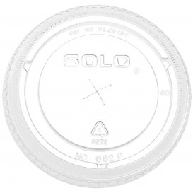 Tapa Plana con Cruz PET Cristal Ø9,8cm (100 Uds)