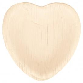 Plato Corazón Hoja de Palma 10x10x1,5cm (25 Uds)