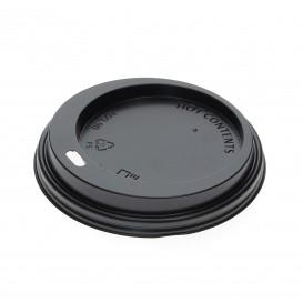 Tapa Agujero Negra Vaso 12, 16 y 22 Oz Ø9,0cm (100 Uds)