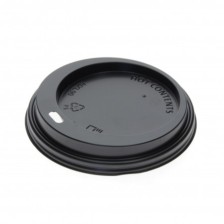 Tapa Agujero Negra Vaso 12, 16 y 22 Oz Ø9,0cm (125 Uds)