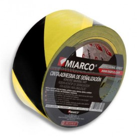 Cinta Adhesiva Señalización 5cmx33m Amarilla/Negra (12 Uds)