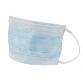 Mascarilla Azul de Triple Capa con gomas (50 Uds)
