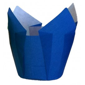 Cápsula Muffin Tulipa Ø50x50/80 mm Azul (125 Uds)