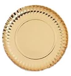 Plato de Carton Redondo Dorado 120 mm (100 Uds)