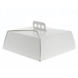 Caja Carton Blanca Tarta Cuadrada 32,5x32,5x10 cm (50 Uds)
