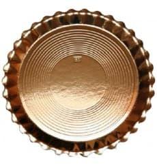 Plato de Carton Redondo Dorado Venus 250 mm (50 Uds)