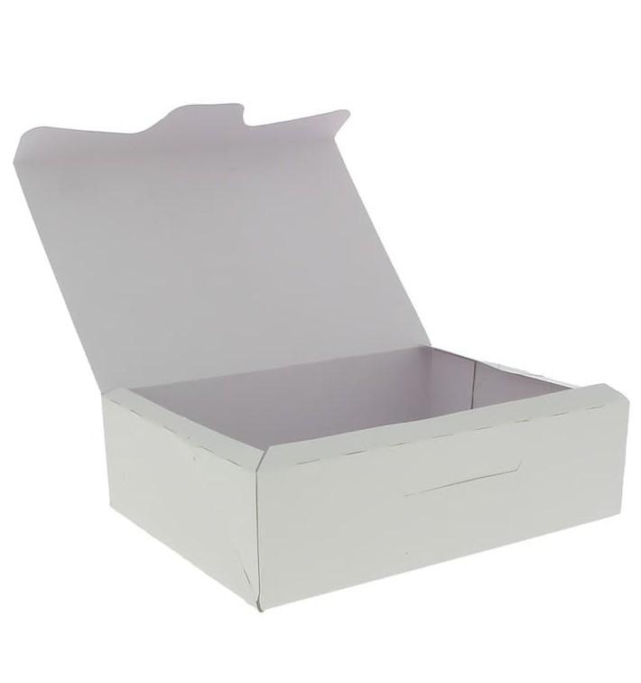 Caja Pasteleria Carton 18,2x13,6x5,2cm 500g Blanca (25 Uds)