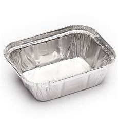 Bandeja Aluminio 250ml 128x100x32mm (100 Uds)
