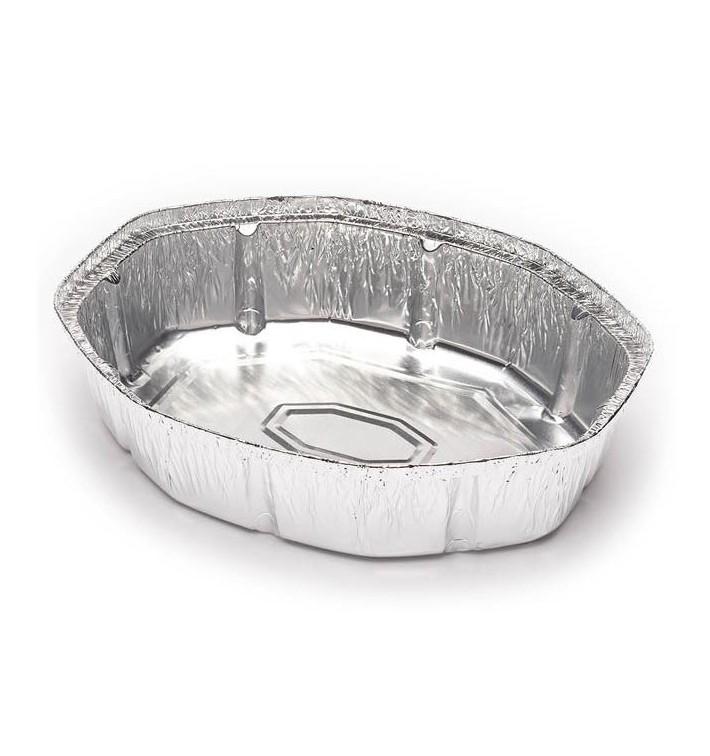 Envase de Aluminio Ovalado para Pollos 1900ml (500 Uds)