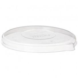 Tapa Compostable PLA Transparente Bol 710 y 940ml (50 Uds)