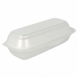 Envase Foam HotDog Blanco 210x105x64 mm (125 Uds)