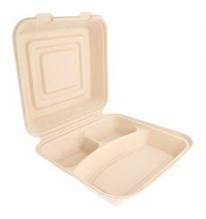 Envase MenuBox Caña Azúcar 3C 250x250x75mm (50 Uds)