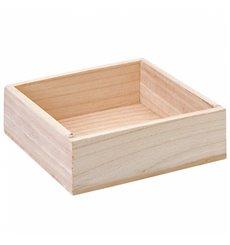 Caja Presentación con Asas Madera 20,5x12,5x6,5cm (1 Ud)