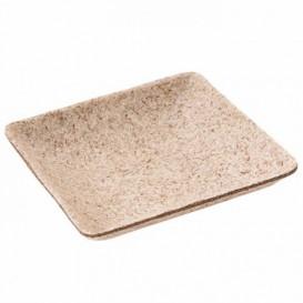 MiniPlato Cuadrado Caña Azucar Natural 6,5x6,5 cm (50 Uds)