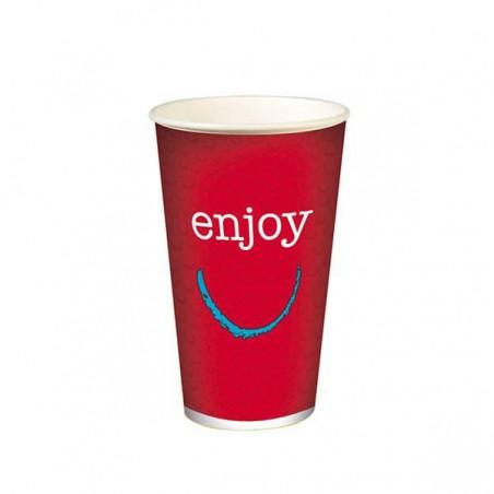 """Vaso de Cartón para Bebidas Frías 16 Oz/500 ml Modelo """"Enjoy"""" (50 Uds)"""