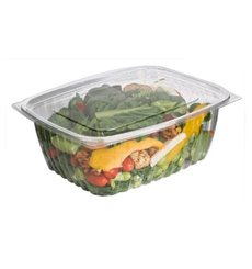 Envase Compostable PLA con Tapa 1890ml (50 Uds)
