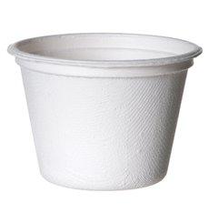 Tarrina Caña de Azucar Bagazo Blanca 120ml (50 Uds)