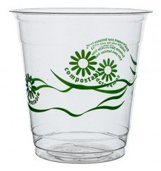 "Vaso PLA ""Green Spirit"" Transparente 250ml (50 Uds)"