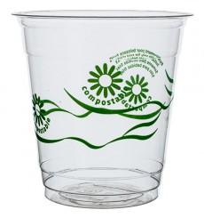 """Vaso PLA """"Green Spirit"""" Transparente 230ml (50 Uds)"""