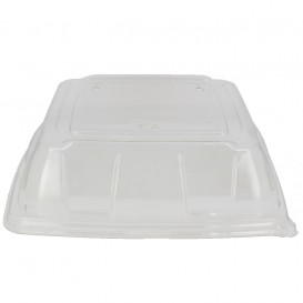 Tapa Plastico PET Transparente Bandeja 27x27cm (25 Uds)