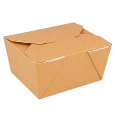 Caja Carton Americana Natural 113x90x64mm 600ml (50 Uds)