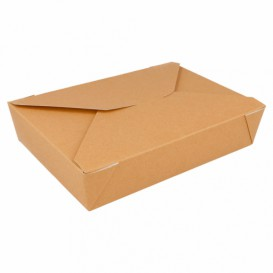Caja Carton Americana Natural 197x140x46mm 1500ml (50 Uds)