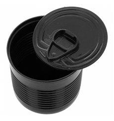Botes de Conserva Negro PS 110ml Ø6x5,7cm (25 Uds)