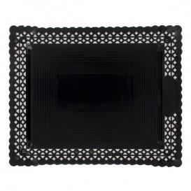 Bandeja de Carton Blonda Negra 22x27 cm (50 Uds)