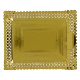 Bandeja de Carton Blonda Dorada 27x32 cm (50 Uds)