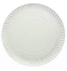 Plato de Carton Redondo Blanco 140 mm 450g/m2 (100 Uds)