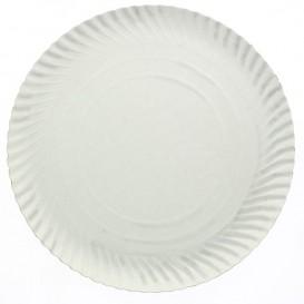 Plato de Carton Redondo Blanco 100 mm (100 Uds)