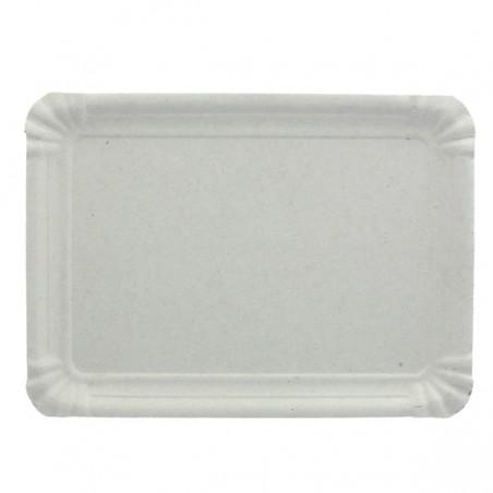 Bandeja de Carton Rectangular Blanca 22x28 cm (100 Uds)