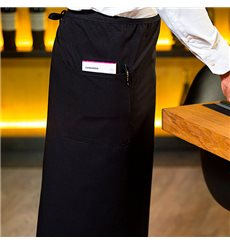 Mandil Francés con 2 Bolsillos Negro 90x110cm (1 Unidad)