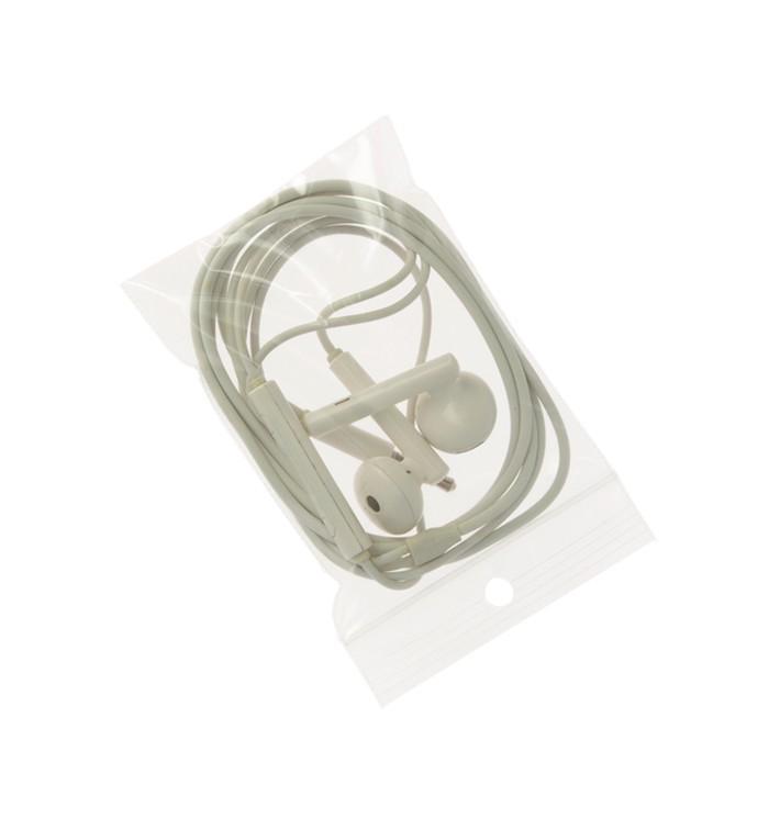 Bolsas Zip con Autocierre y Taladro Circular 7x10 cm G200 (100 Uds)