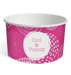 """Tarrina de Cartón para Helados 6,5oz/195ml """"Cool&Yummy"""" (45 Uds)"""