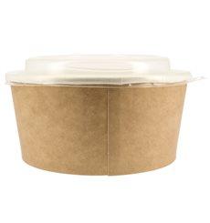 Tarrina de Cartón Kraft con Tapa PP 25 Oz/750 ml (50 Uds)