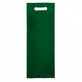 Bolsa Termosellada con Fuelle en Base Verde 17x40+10cm 80g (25 Uds)