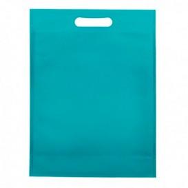 Bolsa Termosellada con Fuelle en Base Azul Eléctrico 17x22,5+5cm 80g (25 Uds)