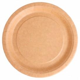 Plato de Papel Biocated Natural Ø18cm (20 Uds)