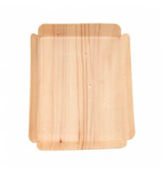 Barquilla de Madera Rectangular 15x11,5x1,5 cm (50 Uds)