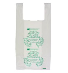 Bolsa Plastico Camiseta 100% Biodegradable 40x50cm (100 Uds)