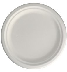 Plato Caña de Azúcar Blanco Ø22 cm (50 Uds)