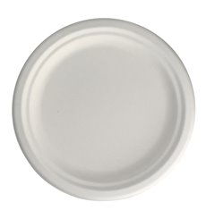Plato Caña de Azúcar Blanco Ø17 cm (50 Uds)