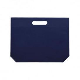 Bolsa Reutilizable Troquelada TNT Azul Marino 34+8x26cm 80g (25 Uds)
